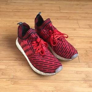 ADIDAS NMD R2 Primeknit RED BLACK WHITE BB2910